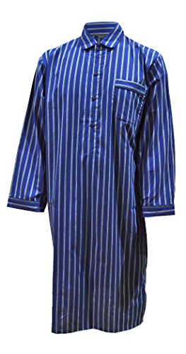 Chemise de nuit 100% coton à rayures homme (XXL)