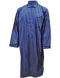 Chemise de nuit 100% coton à rayures homme