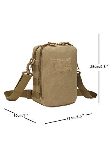 Menschwear Schleuder Tasche Chest Pack,Multiple Storage Zweck Umhängetasche Tragen Styles Tarnung 3 Khaki