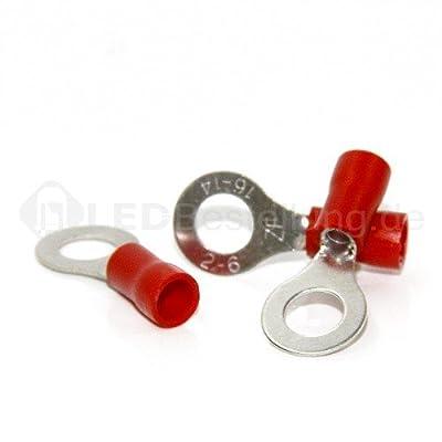 50 Ringkabelschuhe M6 rot 0,5-1,5mm² Ringkabelschuh Quetschkabelschuhe Ringösen von SN-Import GmbH auf Lampenhans.de