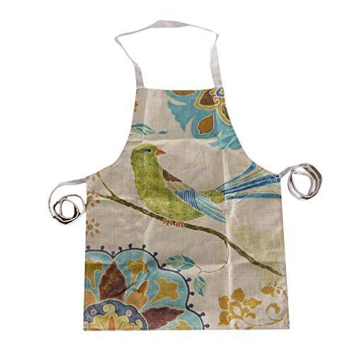 MIKI Shop Kleine Vogel Design Schürze Küchenhalbschürze Koreanische Schürze Küchenkleid, Kleiner Vogel 1 -