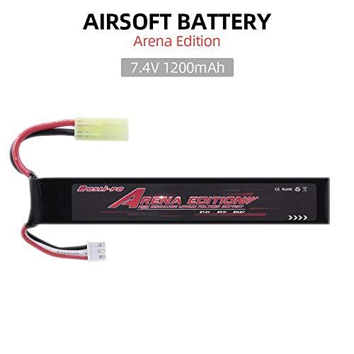 7.4V Airsoft Battery 1200mAh Lipo Battery Mini tamiya Female Connector for Airsoft Guns M4, Crane Stock, M110, SR25, AK47, MP5K, MP5, SCAR, M249, M240B, M60, G36, M14, RPK, PKM, L85, AUG, G3