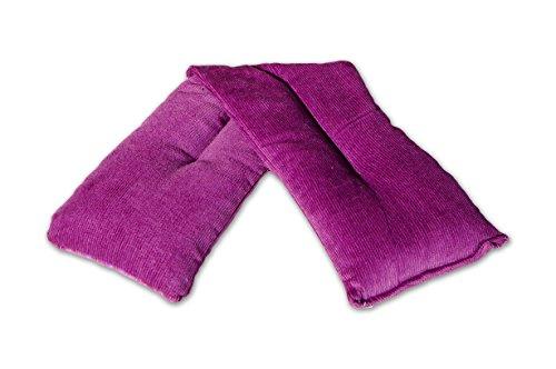 Lavendel Körnerkissen | Lavendel Wärmekissen | von Lavana Wellness | dicken, cashmereweichen, luxuriösen baumwollen Bezug | natürliches Produkt | angenehme Wohlfühlwärme | Schmerzlinderung (Lila)