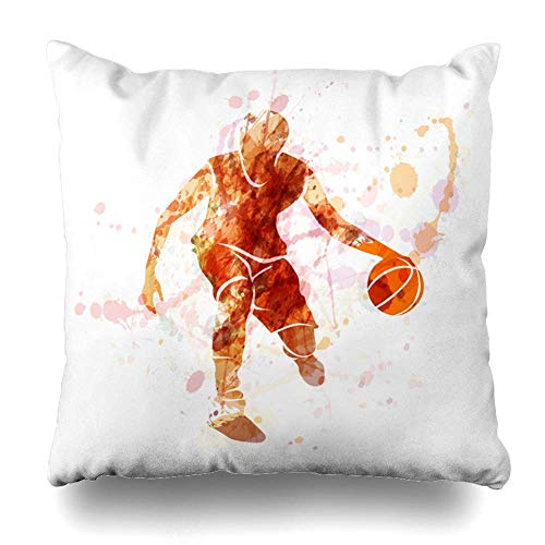 Rghkjlp Throw Kissens Covers for Couch/Bed 18 x 18 inch,Art Deco Fan Pattern Peach Home Sofa Cushion Cover Kissencase Gift Decorative Hidden Zipper Design Cotton and Polyester Blended Soft Touch -