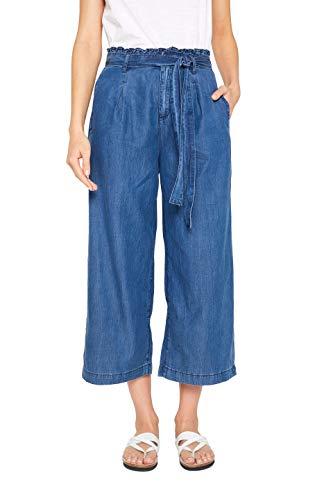 edc by ESPRIT Damen 049CC1B007 Flared Jeans, Blau (Blue Medium Wash 902), W25 (Herstellergröße: 25/28) Jeans Flared Jeans