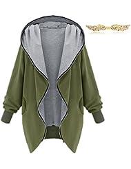 BYD Mujeres Chaquetas con Capucha Abrigo Encapuchada Hooded Jacket Sudaderas Cardigans Tops