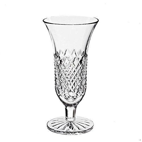 CRISTALICA Vase Blumenvase Bouquet Vase Waterford Transparent H 18,5 cm Handgeschliffen Kristallglas Tischvase Waterford Bouquet
