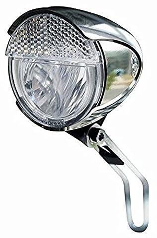 Trelock LS 583 Chromoptik Fahrrad LED Scheinwerfer Ø 60mm Retro Design - 15 Lux - Standlicht
