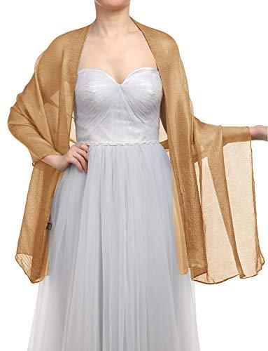 zerschal Scarves Stola 70 * 180CM Sommer Tuch Stolen für Kleider in 22 Farben Dark Gold ()