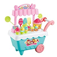 The toy set consists of various interesting dessert items that fit into atwo tier stand placed on a four wheeled cartMade of plastic, safe and no harm to your babyIncludes different flavored ice cream sticks, ice lollies, lollipops,sandwich, ...