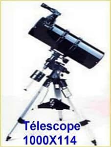 Hama - Télescope Télescope astronomique 114x1000 grossissements de 50 à 500 f...