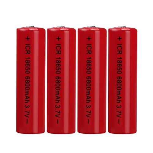 Preisvergleich Produktbild 4PCS 3.7V 6800mAH Lithium-Ionen-Akku 18650 Akku für Taschenlampe 4 18650 Batterien Battery