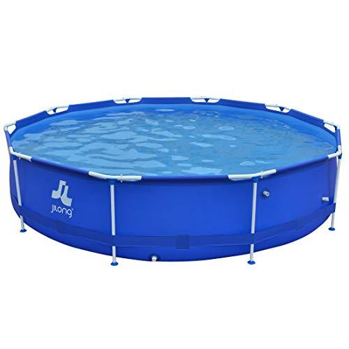 Jilong JIL2873-6920388626989 Stahlrahmenbecken, 6125 liters, Blau 989, 360 x 360 x 76 cm