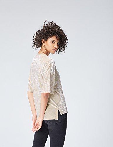 FIND Damen T-Shirt Beige (Almond)