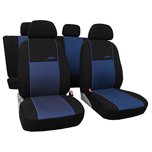 Preisvergleich Produktbild Saferide / Maß Autositzbezüge Blau Set Komplettset 6-Sitze Sitzbezüge Sitzbezug Schonbezug Schonbezüge Autoschonbezug Autositzbezug Sitzauflagen Sitzschutz Gallante VIP
