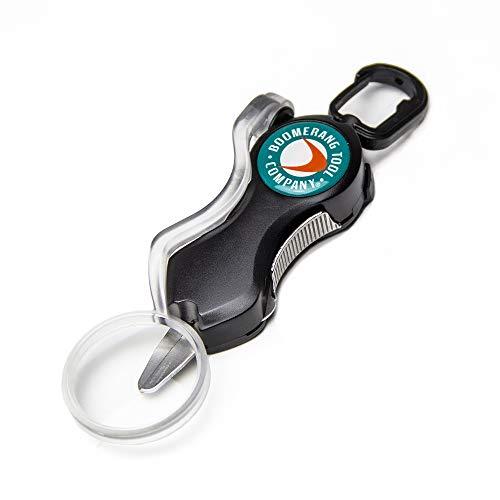 Boomerang Tool Company Cheater Snip Angelschnurschneider mit Lupe und Edelstahl-Klingen, die das Geflecht jeden Tag sauber und glatt schneiden. (Schwarz) -