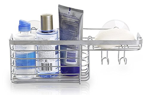 Bino Saugnapf Dusche Caddy, stahl, chrome, Combo Basket - Chrome Bath Caddy