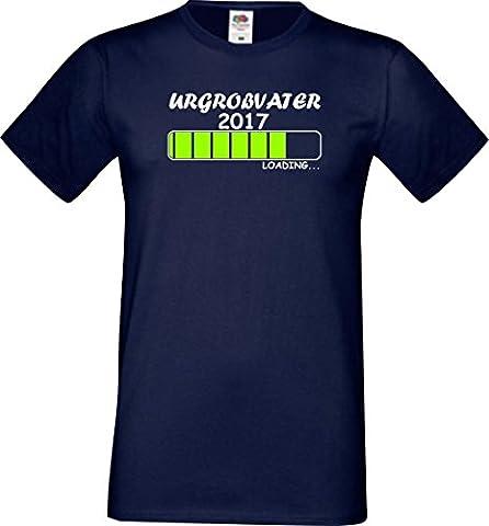 ShirtInStyle Männer T-Shirt Urgroßvater Loading 2017,Farbe navy, Größe L