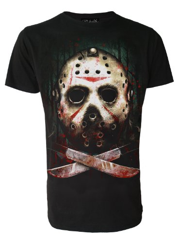 Jason Mask Friday 13th Original Darkside Mens T Shirt