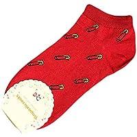 JAGETRADE Cartoon Kreative Boot Socken Nette Frucht Gemusterte Kurze Socken Kawaii Söckchen Rot