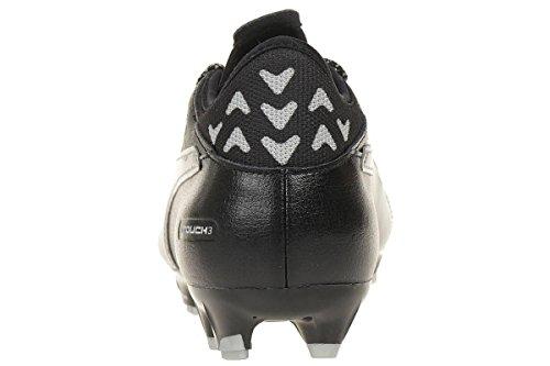 evoTOUCH 3 FG Cuir - Crampons de Foot - Noir/Argent Black