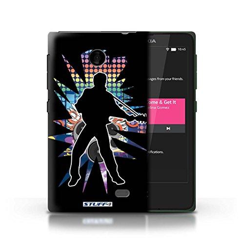 Kobalt® Imprimé Etui / Coque pour Nokia X / Chanteur Noir conception / Série Rock Star Pose Elvis Noir