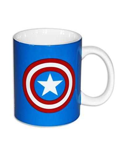 Captain America Kaffeebecher Lieblingstasse aus Keramik für Fans und Sammler (Captain America Halloween)