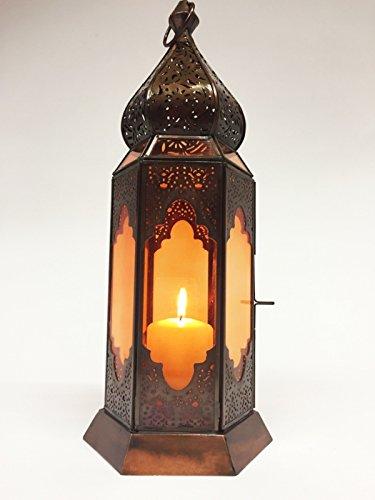 Orientalische Marokkanische Orient Laterne Bushra orange