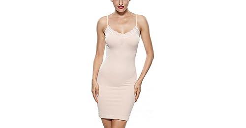 c45da0873975a Khaya Women s Shapewear Full Body Shaping Control Slip With Lace