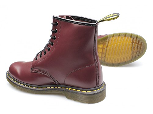 Dr. Martens 1460 Smooth Stivaletti Stringati Unisex - Adulto Cherry Red Smooth
