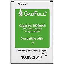 GadFull® Batería para LG G4 | Fecha de fabricación del 2017 | Corresponde al original BL-51YF | Modelo de Smartphone LG G4 | G4 Dual Sim|G4 Stylus | H815 | H818P | H635