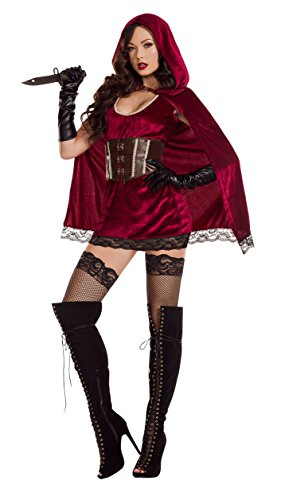 Riding Kostüm Velvet Hood - Starline, LLC. Sexy Red Riding Hood Fancy Dress Costume Women's X-Large