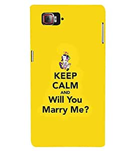 For Lenovo K920 keep calm and will you marry me ( good quotes, nice quotes, yellow background, keep calm and will you marry me, cartoon ) Printed Designer Back Case Cover By Living Fill