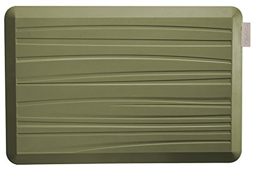NUVA Kitchen Antislip Anti-fatigue Mats Antimicrobial >99.9%, Non-toxic Odor, Water Resistant, 30x20x0.75 inch., Various sizes & colors, Commercial Grade:10 years Warranty(Olive Green, Beach Pattern) by Nuva