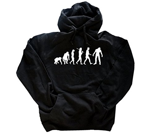 Standard Edition Zombie I Fasching Halloween Evolution Kapuzensweatshirt Hoody Schwarz M