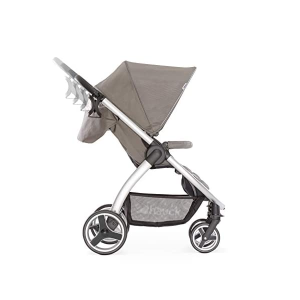 Hauck Lift Up 4, Lightweight Pushchair from Birth to 25 kg, Quick Fold with One Hand with Lying Position, Telescopic, Height-Adjustable Push Handle, Cup Holder, Charcoal Hauck EASY FOLDING - Thanks to its One-Hand-Fold mechanism, this pushchair is folded away within seconds up to a small size. This can be easily transported by the carry strap, leaving one hand free for your little one LONG USE - This buggy can be used over a long period of time as it is suitable from birth thanks to lying position and up to 25 kg. It can also be combined with the hauck Comfort Fix infant car seat + adaptors or hauck 2in1 Carrycot COMFORTABLE - Thanks to backrest and footrest beign adjustable into lying position which is suitable for bigger children, too, as well as large sun hood with UV protection and height-adjustable, telescopic push handle 3