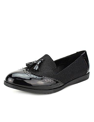 Cendriyon Mocassin Black CINKS Looks Chaussures Femme Noir