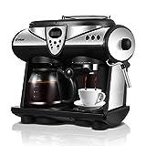SZYLHJ Machine à café Expresso à 2 Saveurs Double Pompes et chaudières Cappuccino...