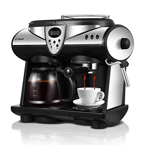 SZYLHJ 2 Geschmacksrichtungen Espresso Kaffeemaschine Doppelpumpen Und Boiler Cappuccino Latte Macchiato Mokka Milchschaum