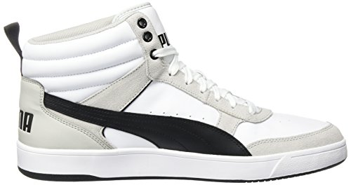 Puma Rebound Street V2, Sneakers Basses Mixte Adulte Blanc (White-black)