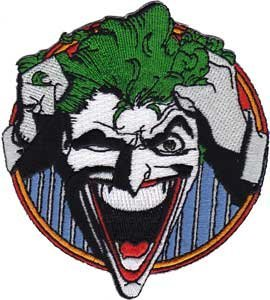 Batman DC Comics Movie Cartoon Iron On Patch - Crazy Joker Laughing Applique by C&D