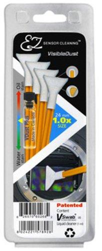VisibleDust orange Serie EZ Sensor Cleaning Kit 4x VSwab 1x 1ml VD Visible Dust Swabs