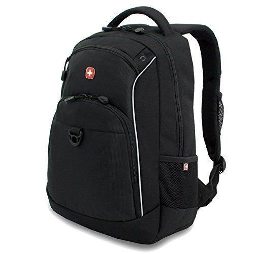 Wenger Mochila con bolsillo para laptop SwissGear Business - Negro, Negro, Nylon