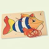 Dida - Allacciatura Pesce - Il gioco dei lacci per sviluppare la manualità dei bambini - attività Montessori