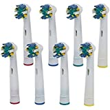 Floss Action Replacement Toothbrush Heads Compatible With Oral-B Electric Toothbrush Handles. Compatible With...