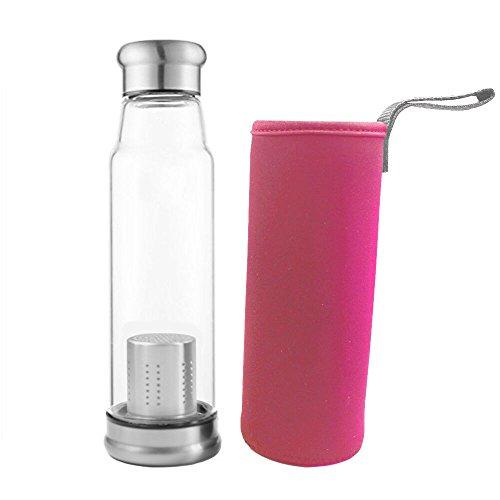 Tetera Infusion Con Filtro, valali 550ml botella de agua portátil d