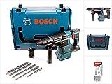 Bosch GBH 18 V-26 F Akku Bohrhammer Professional SDS-Plus Solo in L-Boxx mit Schnellwechselfutter + 5 SDS-VPlus Hammerbohrer - ohne Akku, ohne Ladegerät