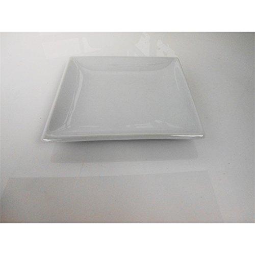 Fimel- Assiette carrée en Porcelaine Blanche, Dimensions 18,2 x 18,2 cm.