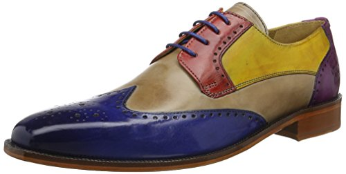 Melvin & Hamilton Jeff 14, Richelieu homme Mehrfarbig (Crust China Blue, Powder, Rouge, Yellow, eggplant LS NAT.)