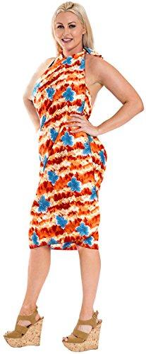 nodo sarong / legami incorporati ricorrono insabbiamento da bagno costume da bagno bikini vestito beachwear Rosso